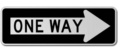 One Way Right Sign