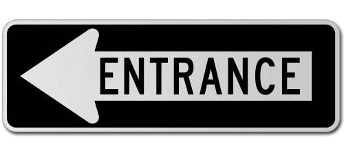 Entrance Left Sign
