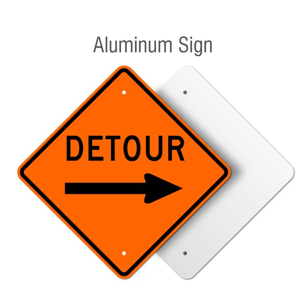 Detour Right Sign