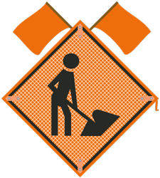 Workers symbol Sign with flags