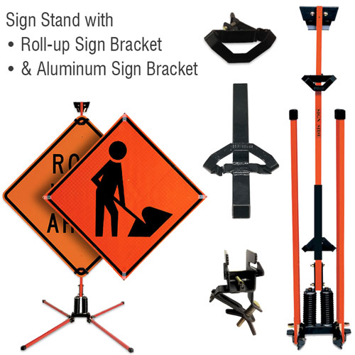Little Buster Sign Stand For Roll-up & Rigid Signs
