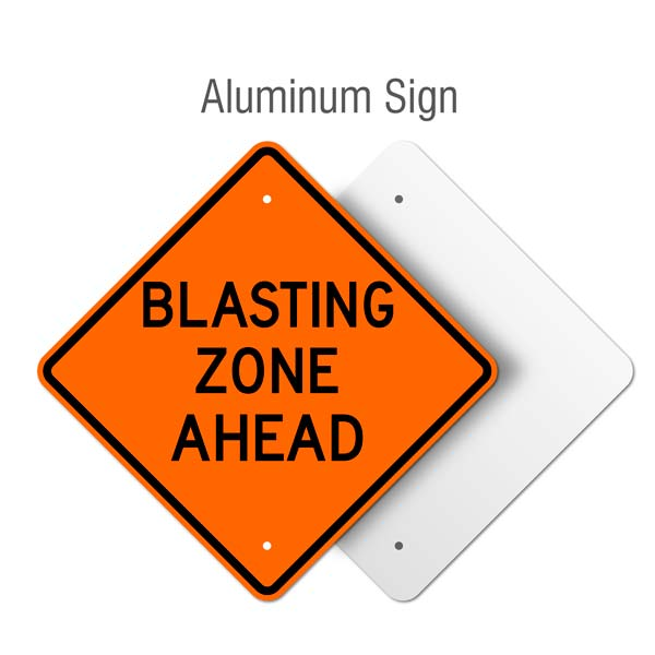 Blasting Zone Ahead Sign