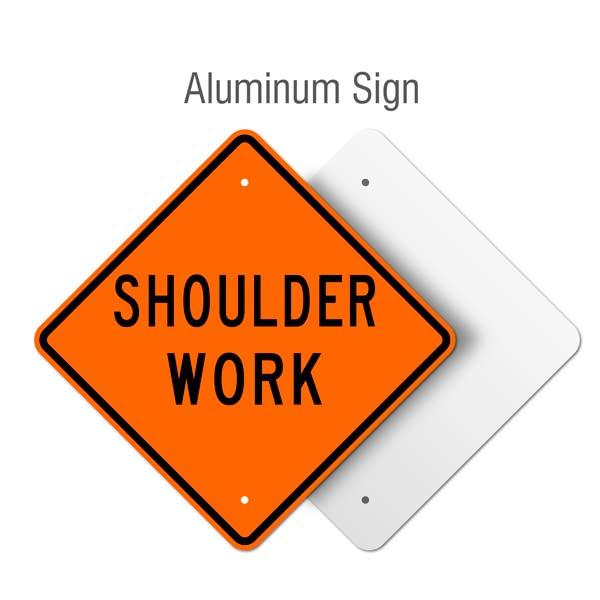 Shoulder Work Sign
