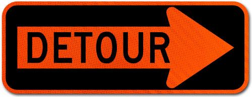 Detour Right Arrow Sign