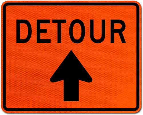 Detour Sign (Up Arrow)