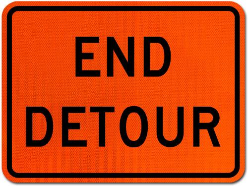 End Detour Sign
