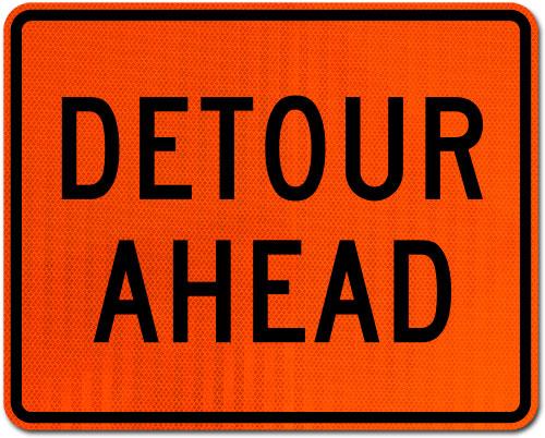 Detour Ahead Sign
