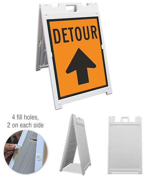 Detour (Up Arrow) Sandwich Board Sign