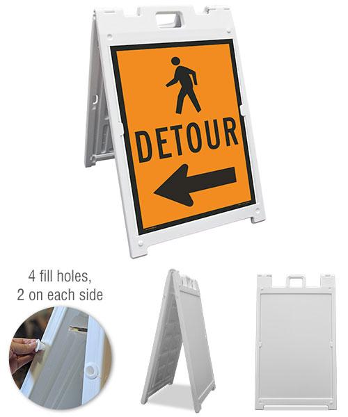 Pedestrian (Left Arrow) Sandwich Board Sign