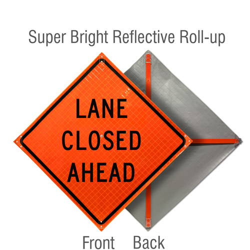Lane Closed Ahead Roll-Up Sign
