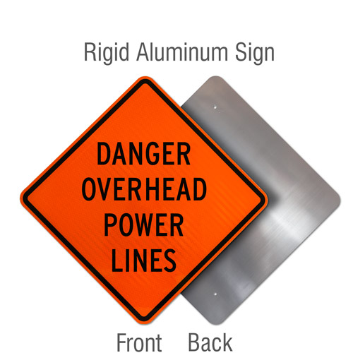 Danger Overhead Power Lines Sign