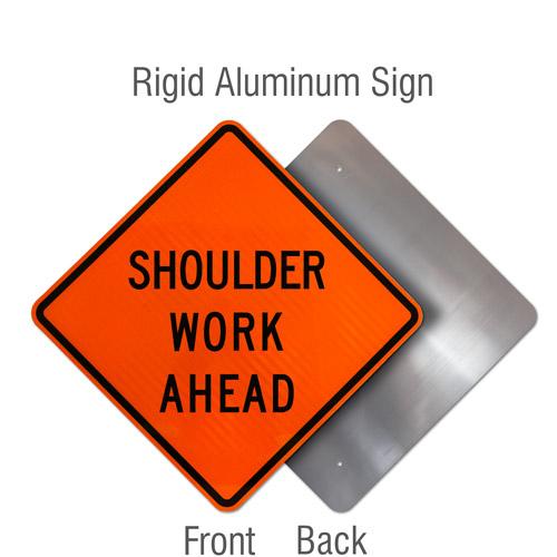 Shoulder Work Ahead Sign