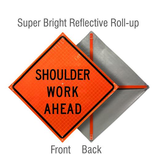 Shoulder Work Ahead Roll-Up Sign