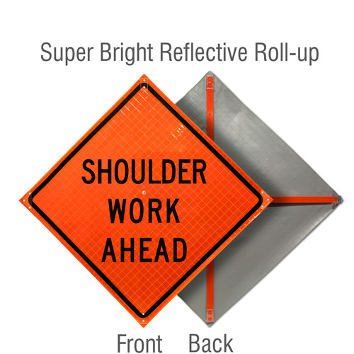 Shoulder Work Ahead Roll-Up Sign