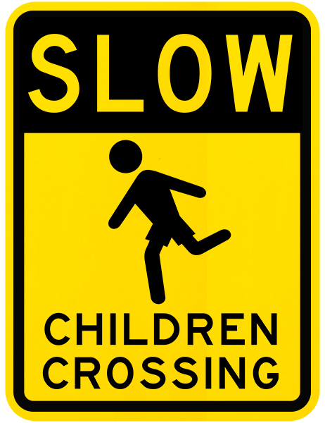 Slow Children Crossing Sign