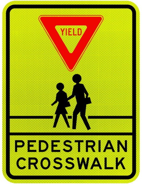 Yield Pedestrian Crosswalk Sign X5638  By Safetysignm. Medical Renal Disease Signs Of Stroke. Moon Signs. Shop Name Signs. Tap Water Signs. Cardiovascular Disease Signs. Flem Signs. Tumblr Aesthetics Signs. Fraternity Signs