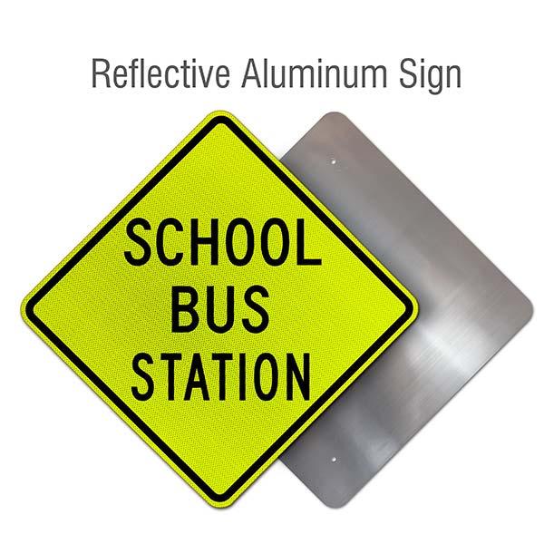 School Bus Station Sign