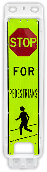 Replacement Stop For Pedestrians In-Street Crossing Panel