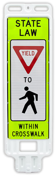 Replacement Yield to Pedestrians In-Street Crossing Panel