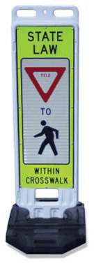 Stop For Pedestrians Sign