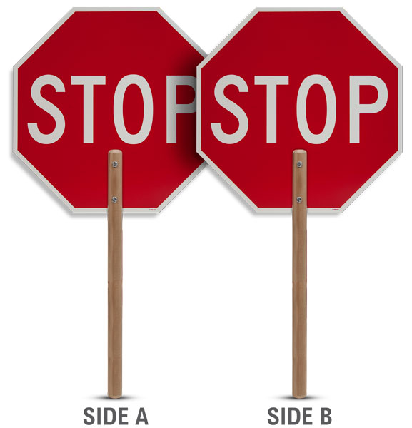 "60"" Staff Stop Sign Paddle"