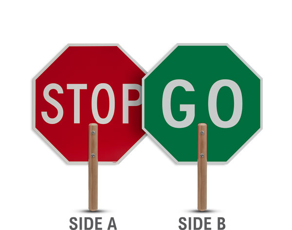 Stop / Go Traffic Paddles