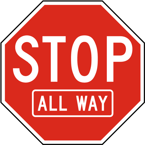 Stop All Way Sign
