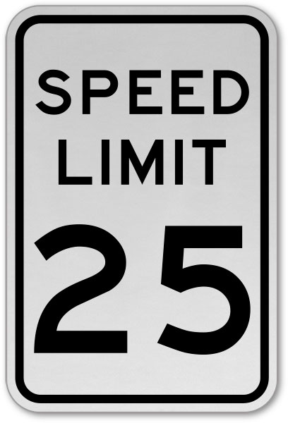 Speed Limit 25 MPH Sign