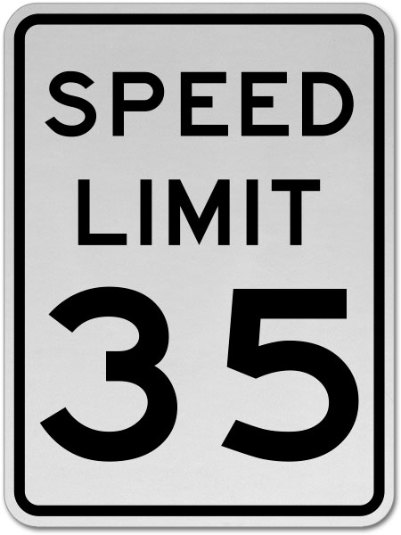 Speed Limit 35 MPH Sign