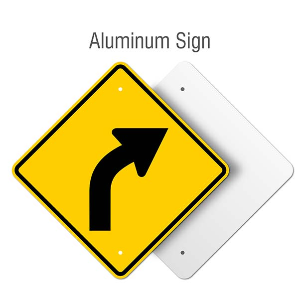 Right Curve Ahead Sign
