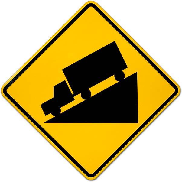 Hill Warning Sign