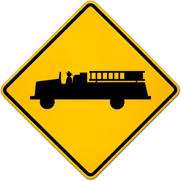Emergency Vehicles Warning Sign