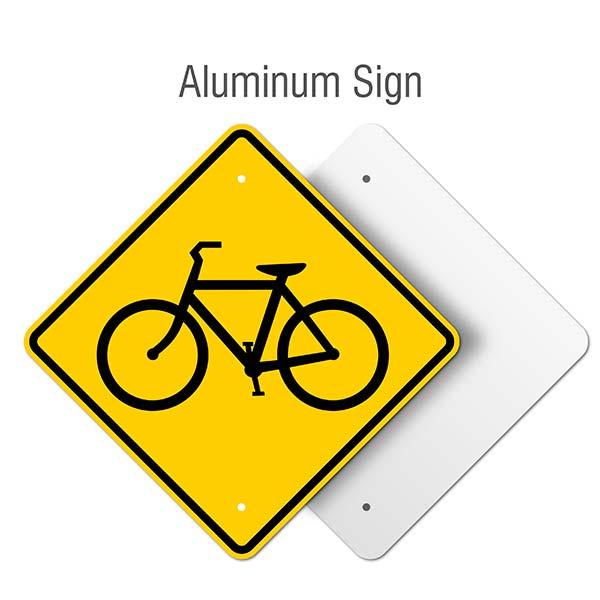 Bicycle Traffic Warning Sign