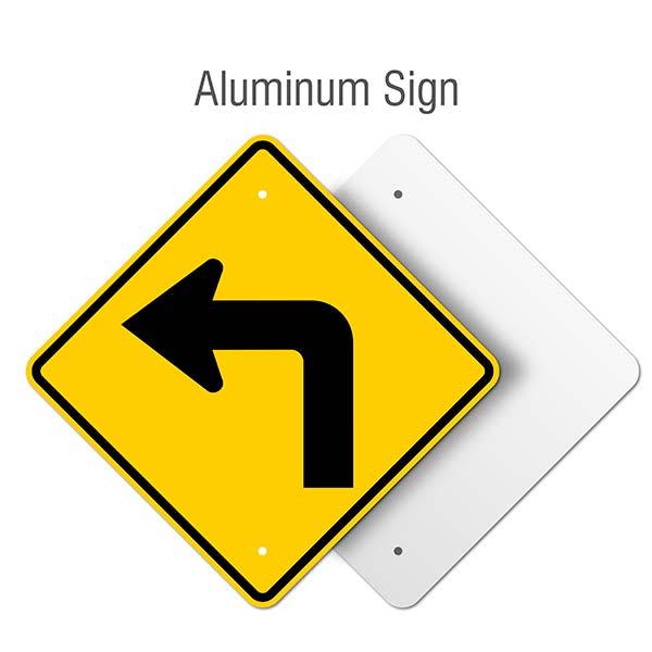 Left Turn Ahead Sign