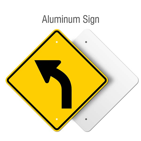 Left Curve Ahead Sign