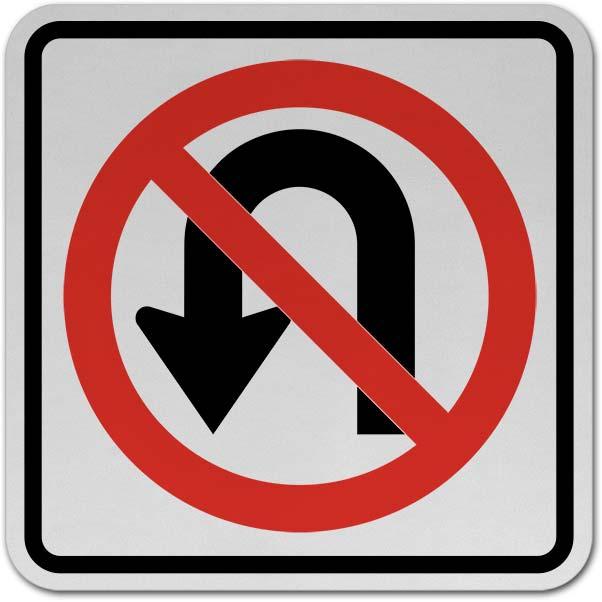 No U-Turn Sign