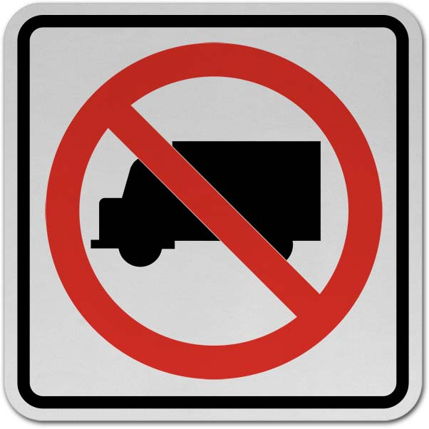 No Trucks Sign