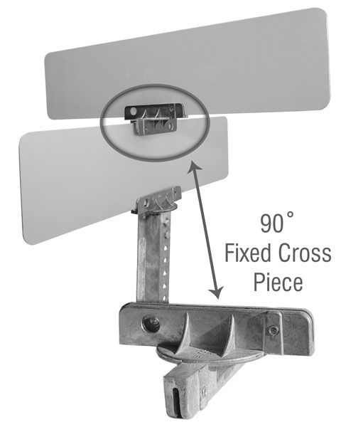 90 Degree Fixed Cross Separator For Street Name Signs
