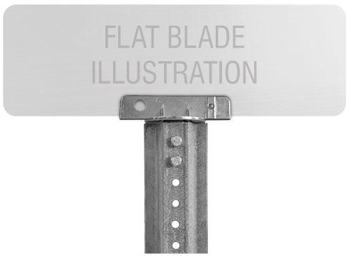 180 Degree U-Channel Post Flat Blade Street Name Sign Bracket