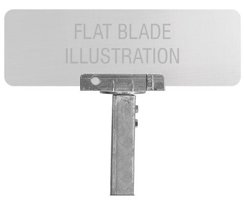 90 Degree U-Channel Post Flat Blade Street Name Sign Bracket