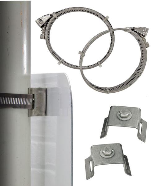 Adjustable Large Round Post Brackets