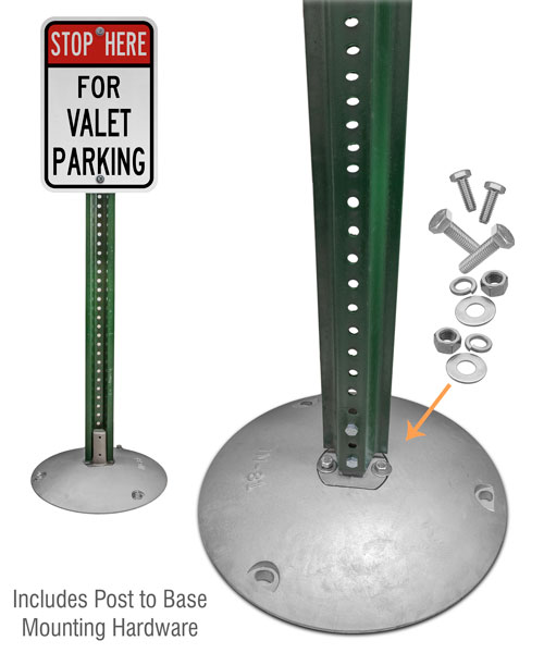 7 lb. Portable Sign Stand with 8 lb. 4' U-Channel Post