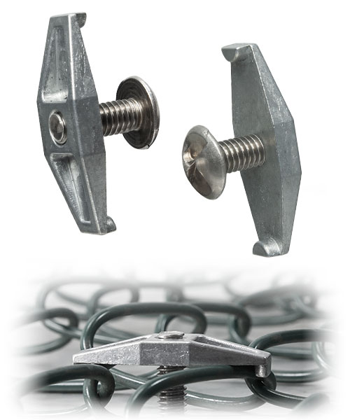 Tamper Resistant Security Fence Brackets