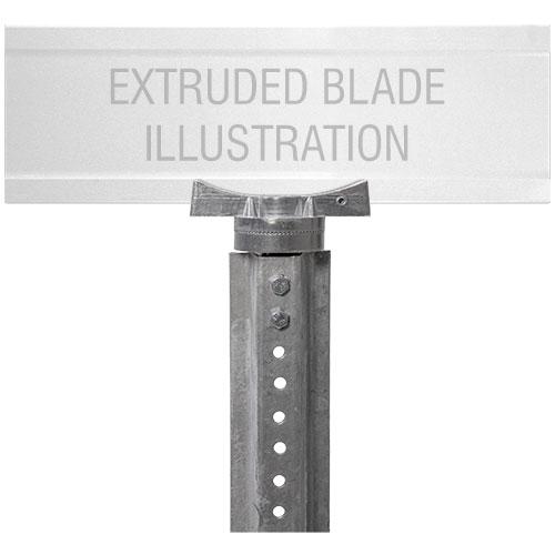 Adjustable U-Channel Bracket For Extruded Blade Street Name Signs