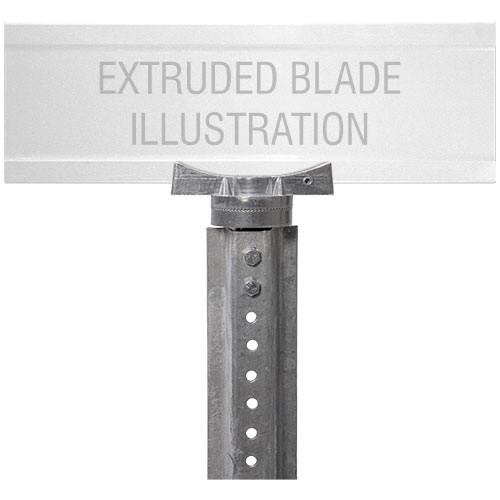 Adjustable U-Channel Bracket For Extruded Blade Street Name Signs