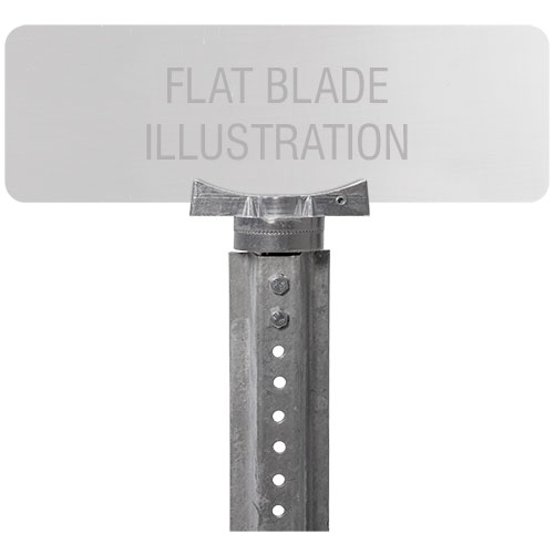 Adjustable U-Channel Bracket For Flat Blade Street Name Signs