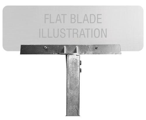 12″ 90° U-Channel Post Flat Blade Street Name Sign Bracket