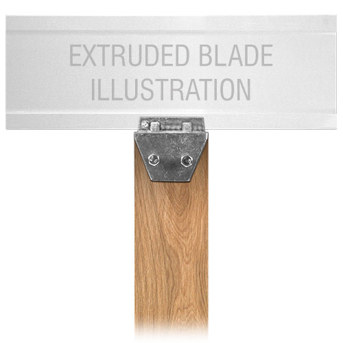 Extruded Blade Wood Post Street Name Sign Bracket