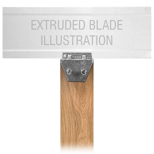 Extruded Blade Wood Post Street Name Sign Bracket