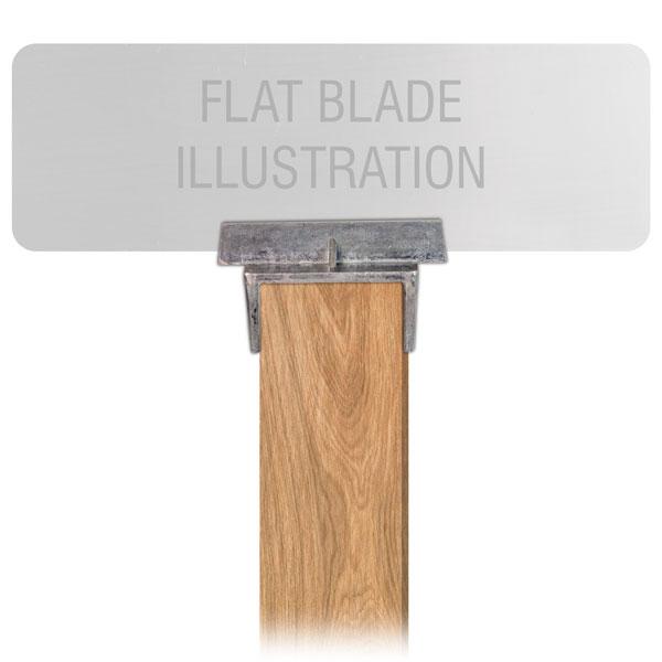 Flat Blade Wood Post Street Name Sign Bracket